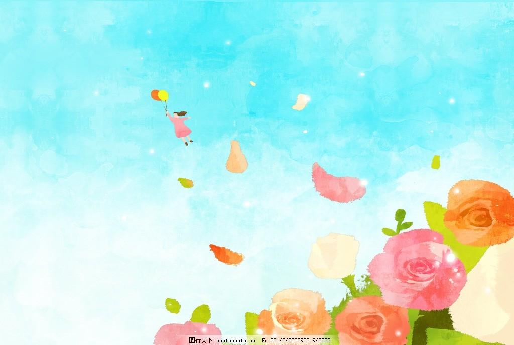 蜡笔画 手绘风景 儿童画 抽象画 水彩画 国画 大写意 笔触 细腻 重彩
