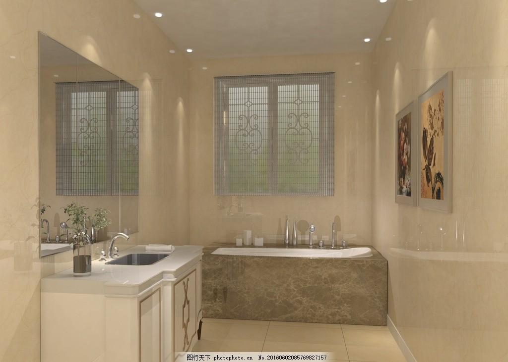 卫生间,现代 简约 欧式 风格 装修 图纸-图行天下图库