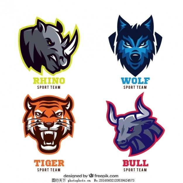 徽章 邮票 运动 动物 贴纸 团队 密封 虎 狼 会徽 俱乐部 钞票 体育
