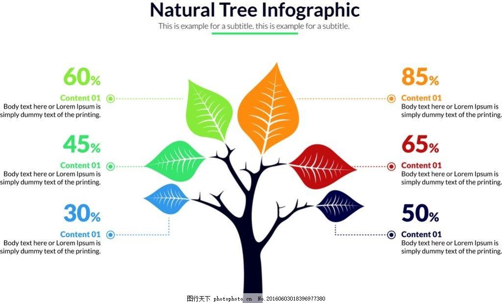 商务树状矢量图设计