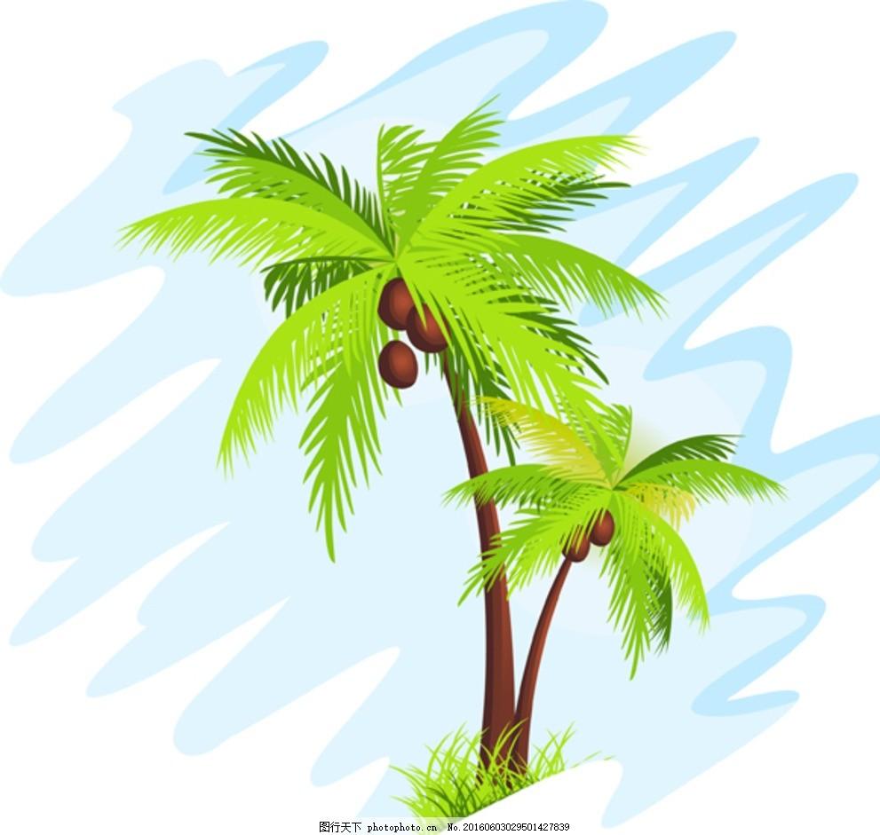 夏日 清凉 海南风光 椰子林 海边树 椰子树 椰子 椰树 海边 沙滩 阳光