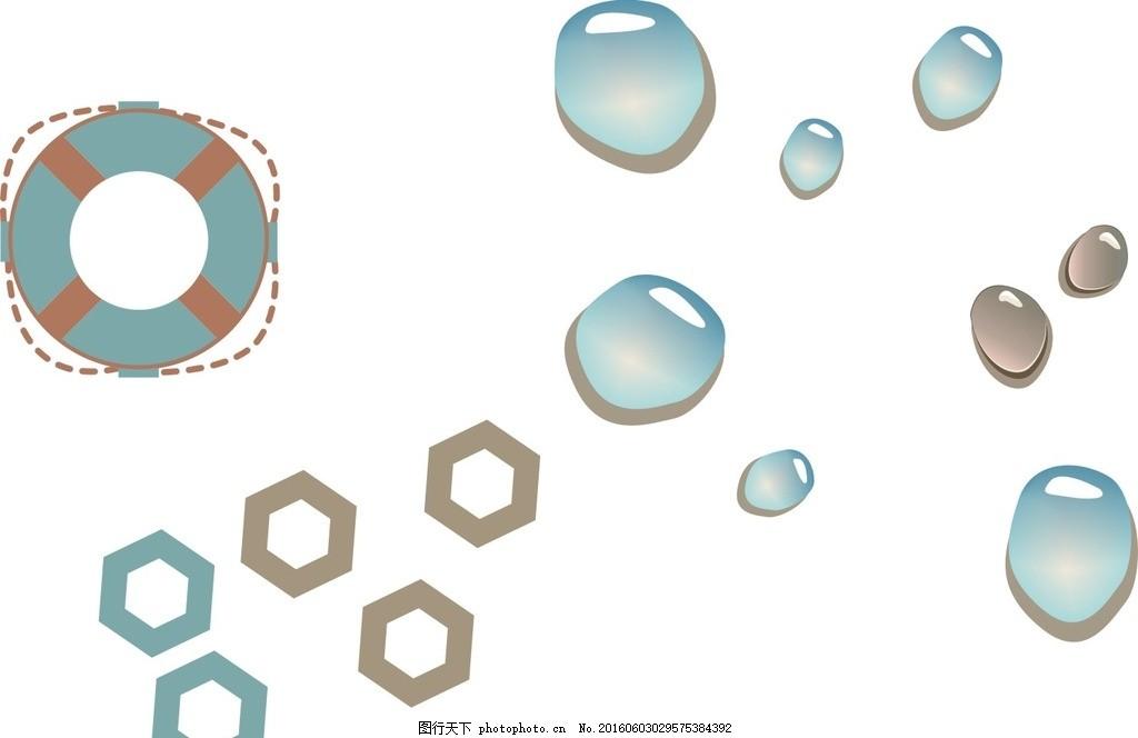 创意 可爱卡通素材 通素材 矢量素材 手绘 蓝色水珠 水珠 露珠 水滴