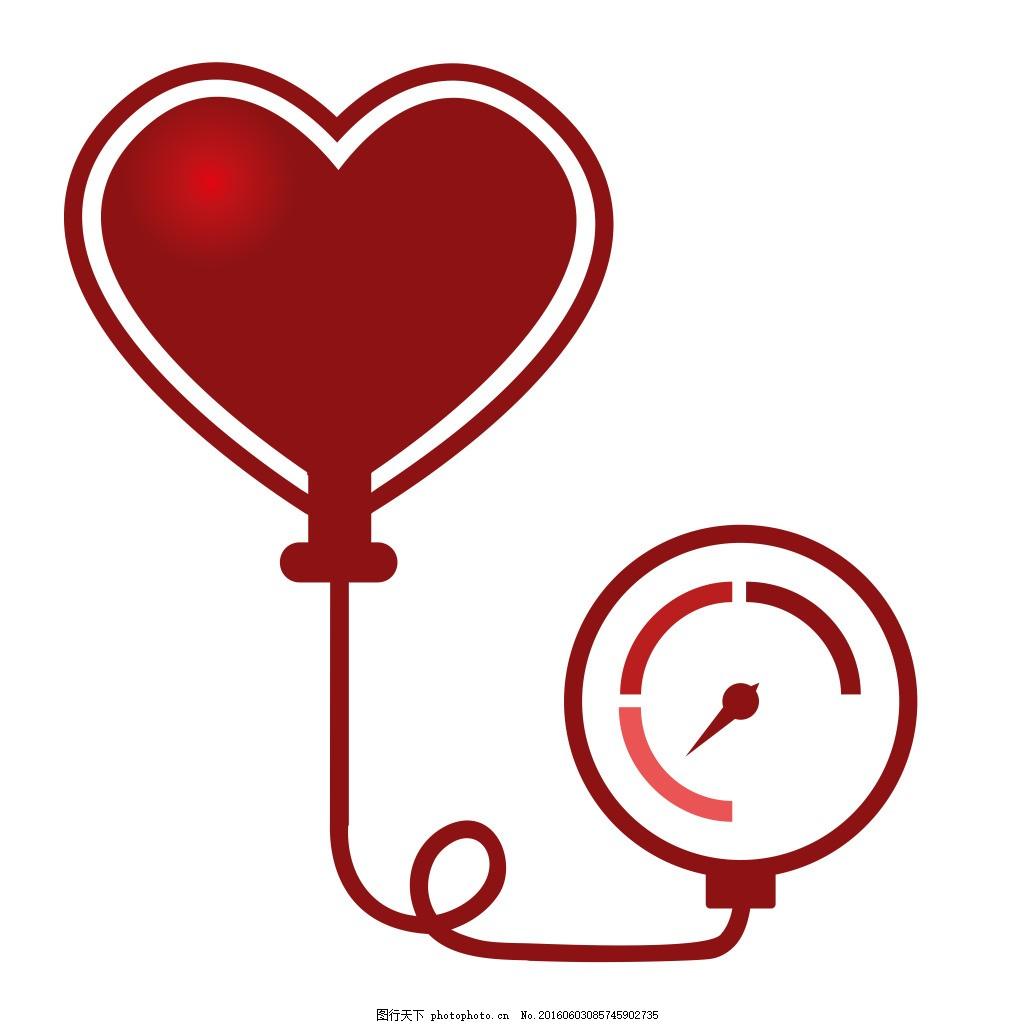 血压计矢量图 高血压 心脏 心率 医疗图片