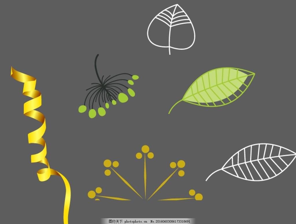 抽象 矢量素材 矢量 手绘花朵素材 手绘插图 手绘素材 矢量花朵 可爱