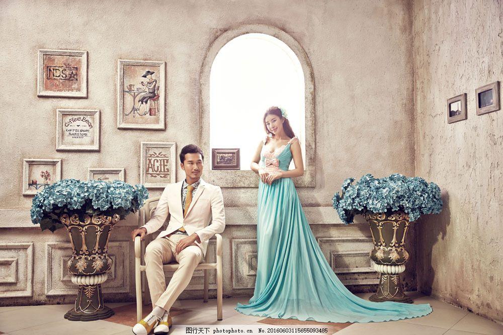 欧式复古婚纱摄影图片素材 新人情侣 婚纱情侣 帅哥美女 情侣新人