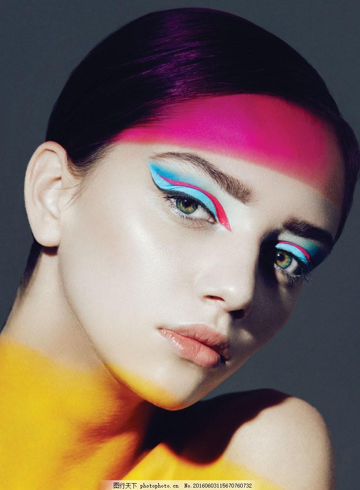 彩妆美女 彩妆美女图片素材 化妆造型 美发造型 时尚美女 美女模特