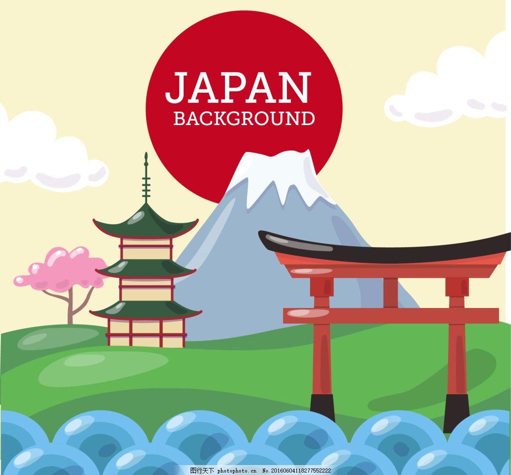 寺庙背景下的日本景观 日本风景 塔子