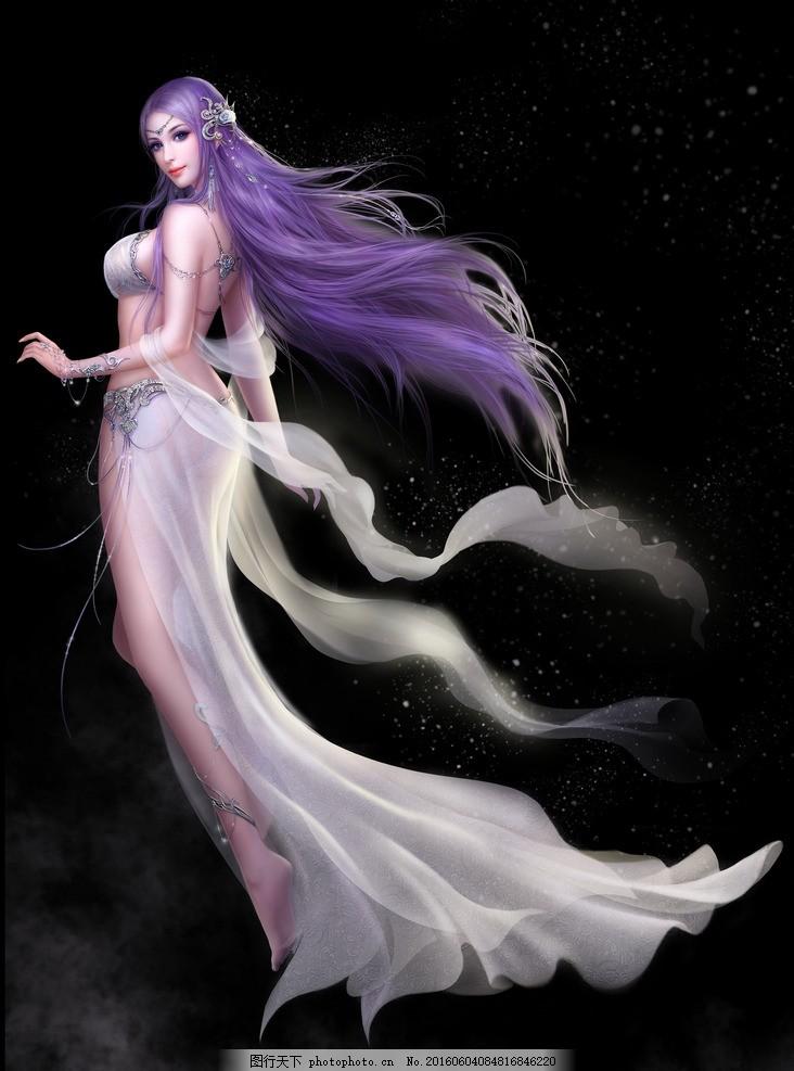 游戏角色 游戏人物 网游手游角色 古装美女 仙女 仙侠 游戏人物 设计