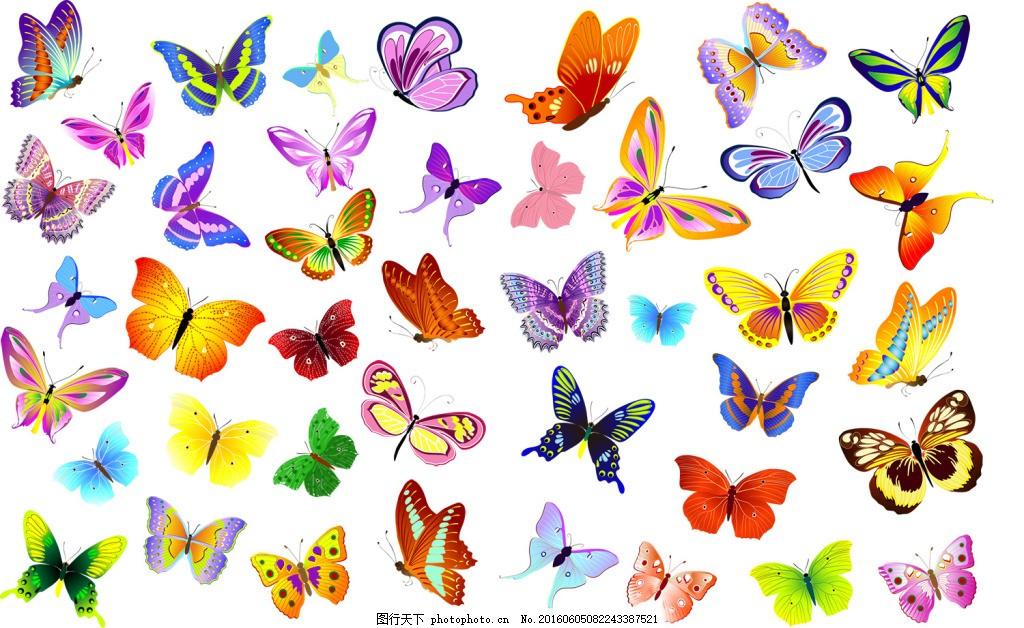 手绘卡通蝴蝶图片