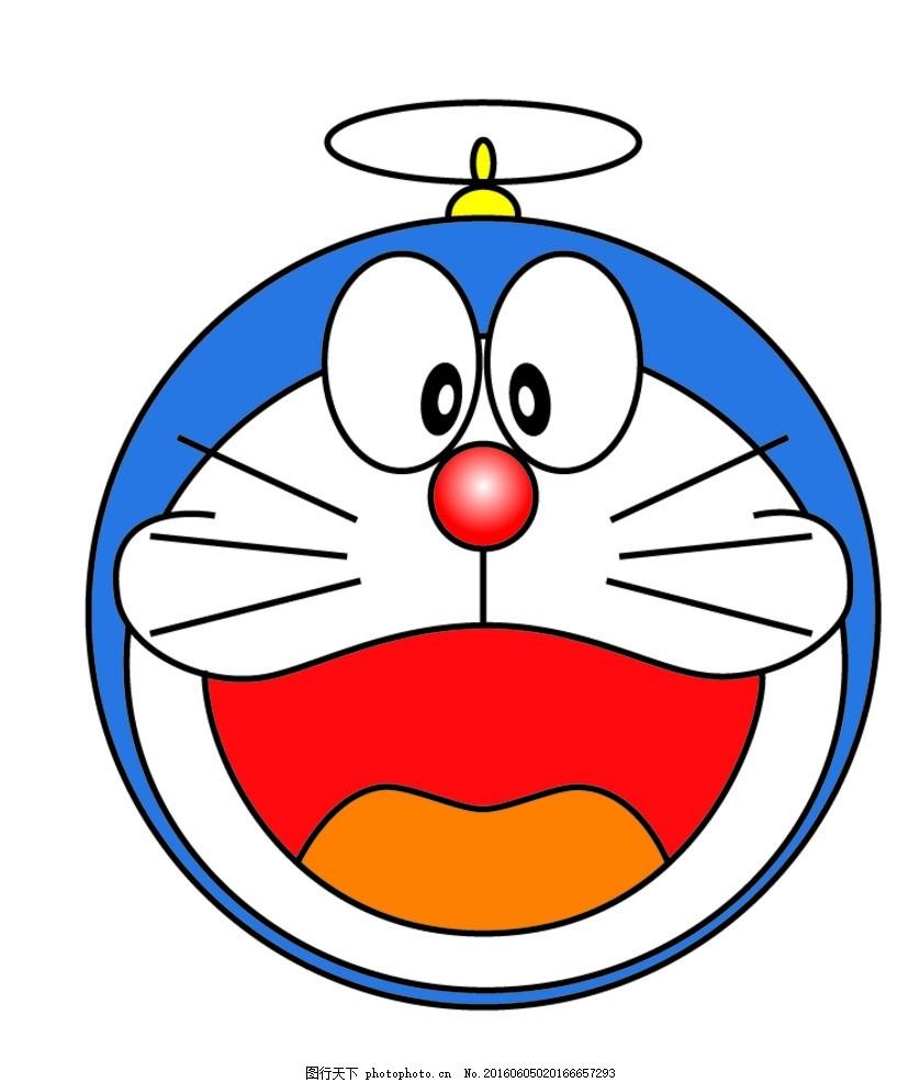 机器猫头像矢量图 机器猫 叮当猫      标志 底纹 设计 标志图标 其他