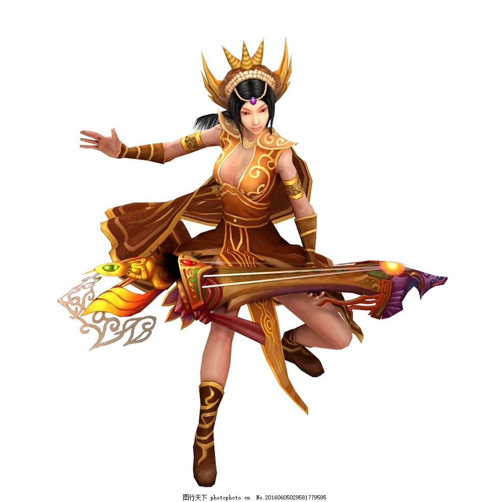游戏美女 游戏人物 网游手游角色 仙侠美女 古琴 神器 游戏人物 设计