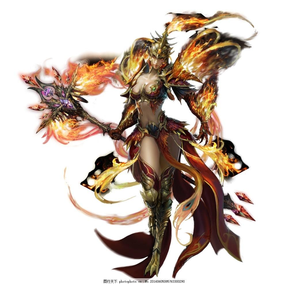 游戏角色 游戏人物 网游手游角色 仙侠 火焰 神器 爪子 游戏人物 设计