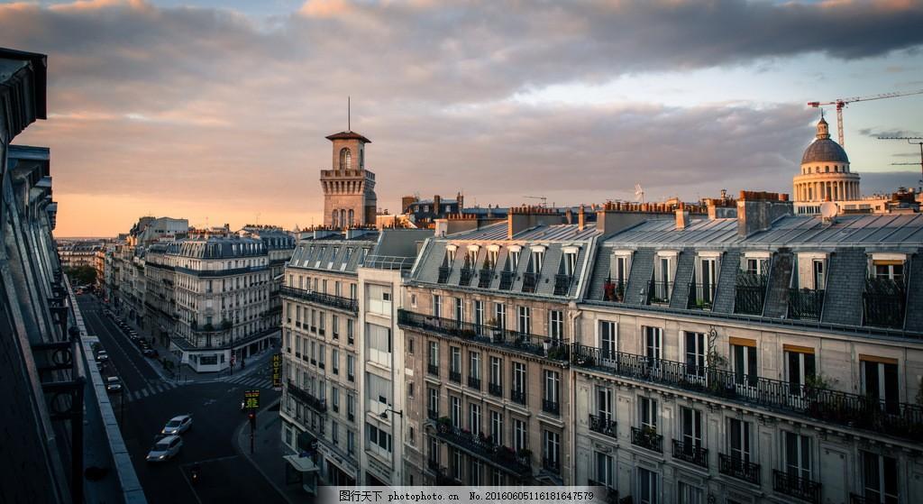 古老欧洲城市风景图片素材下载 法国 巴黎 欧洲 城市 建筑