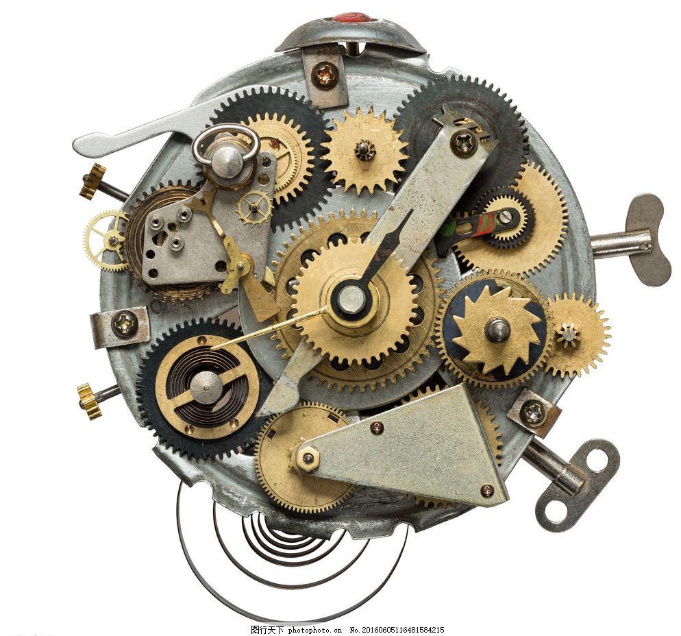 齿轮机械 钟表内部 工业生产 现代科技 摄影