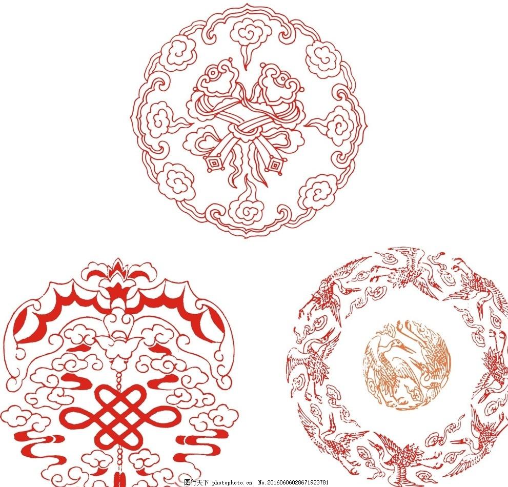 古典圆形花纹 黑白 矢量圆形花纹 时尚 潮流 唯美 古典花纹 欧式花边