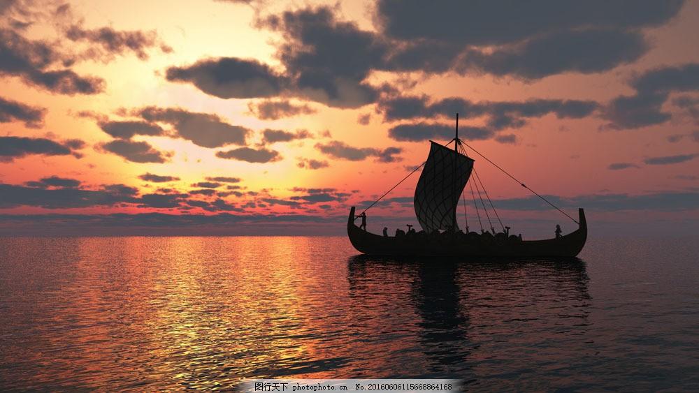 唯美浪漫海上风景图图片