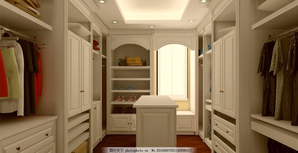 衣帽间 衣柜 岛台 描金 鞋柜 家居效果图 设计 3d设计 3d作品 300dpi