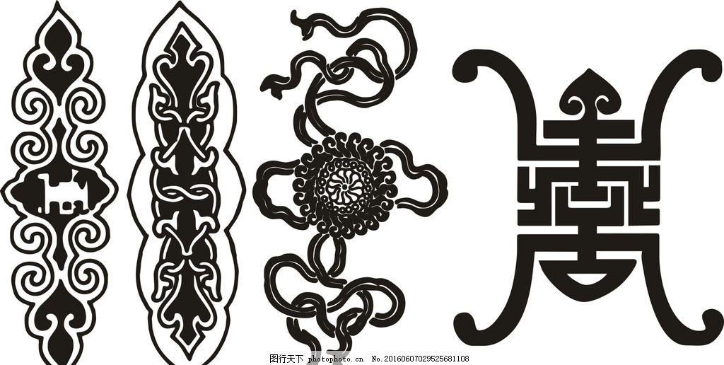 古代边框 古代素材 古典圆形花纹 古典花边 圆形 花纹古代图腾 设计