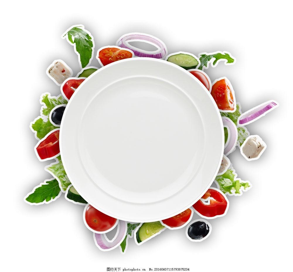盘子与蔬菜图片素材 盘子 蔬菜 食物 美食 蔬菜图片 餐饮美食 图片