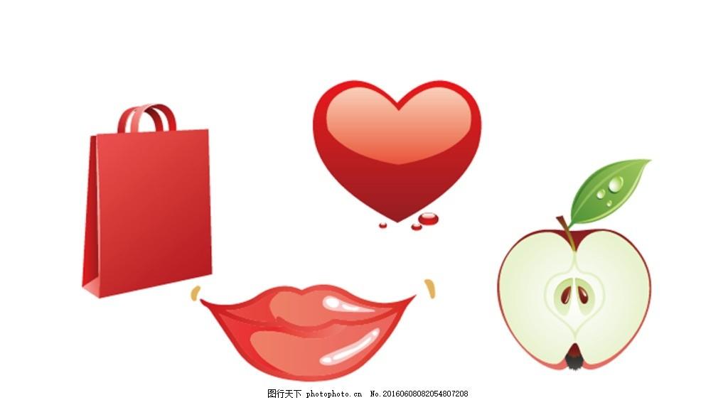 红唇 卡通素材 可爱 素材 手绘素材 幼儿园素材 抽象 时尚 可爱卡通