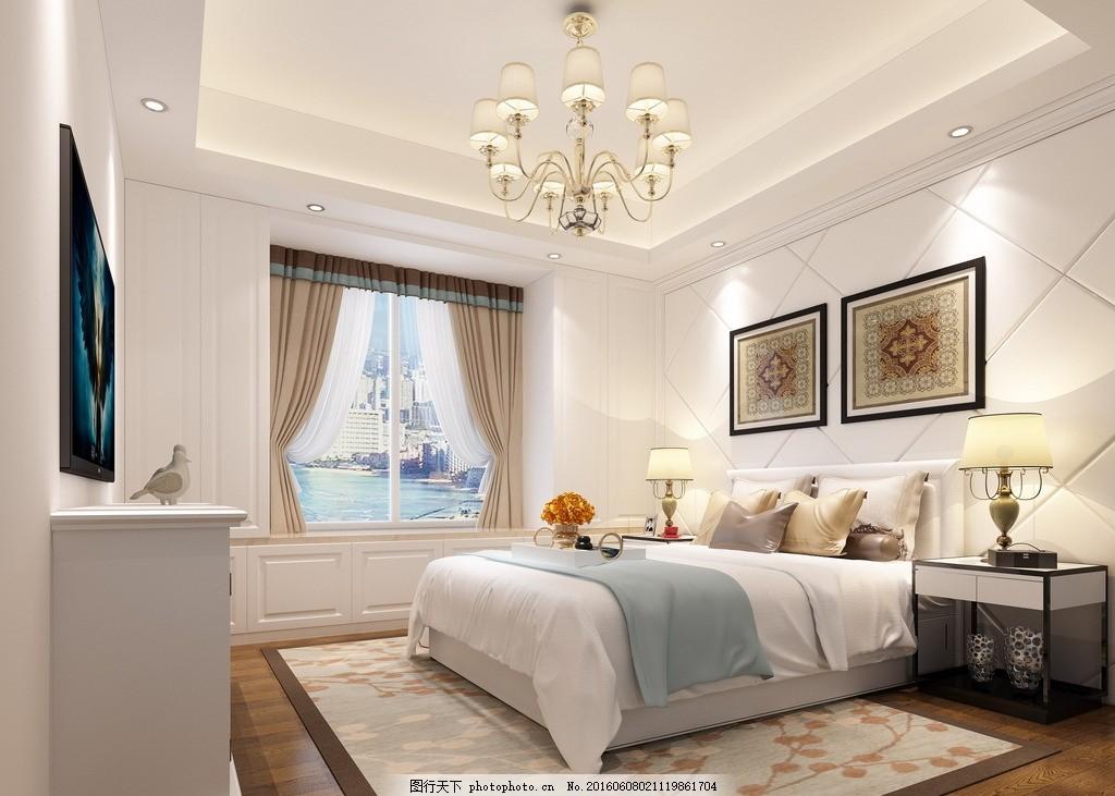 美式 主卧 欧式 复古 欧式主卧 环境设计 室内设计