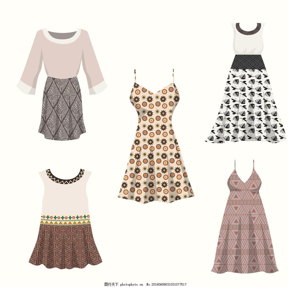 手绘连衣裙 夏天 时尚 春天 服装 服饰 现代 女孩 新鲜 纺织
