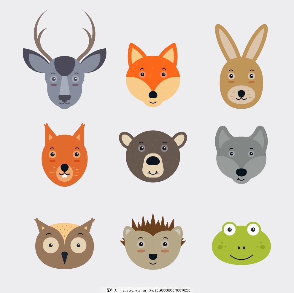 可爱的动物脸