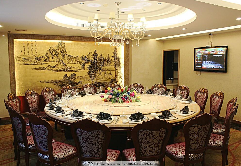 中餐包厢 酒店 餐饮 中餐 包厢 摆台 餐具厨具 餐饮美食 摄影 72dpi图片