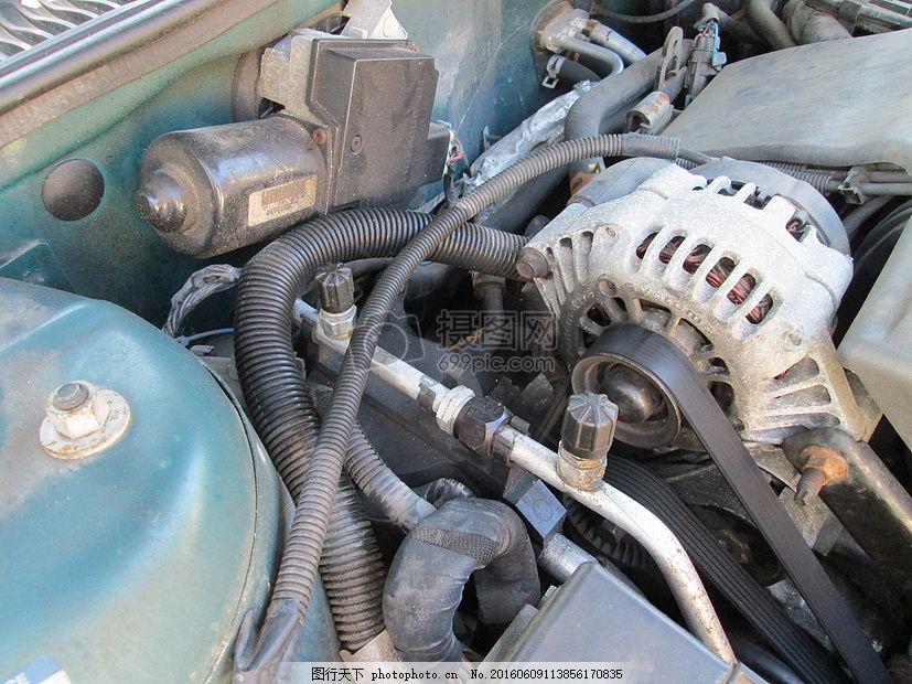 汽车发动机 马达 酿酒 老 红色