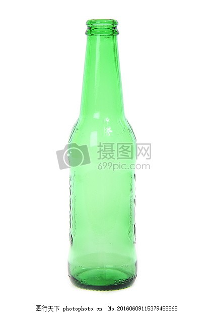 空绿色瓶子 酒精 啤酒瓶 清洁 细节 红色