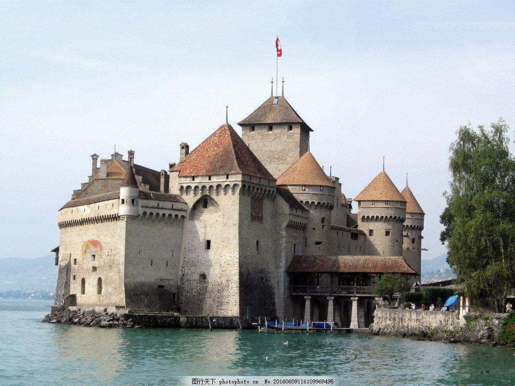 海边欧式城堡图片