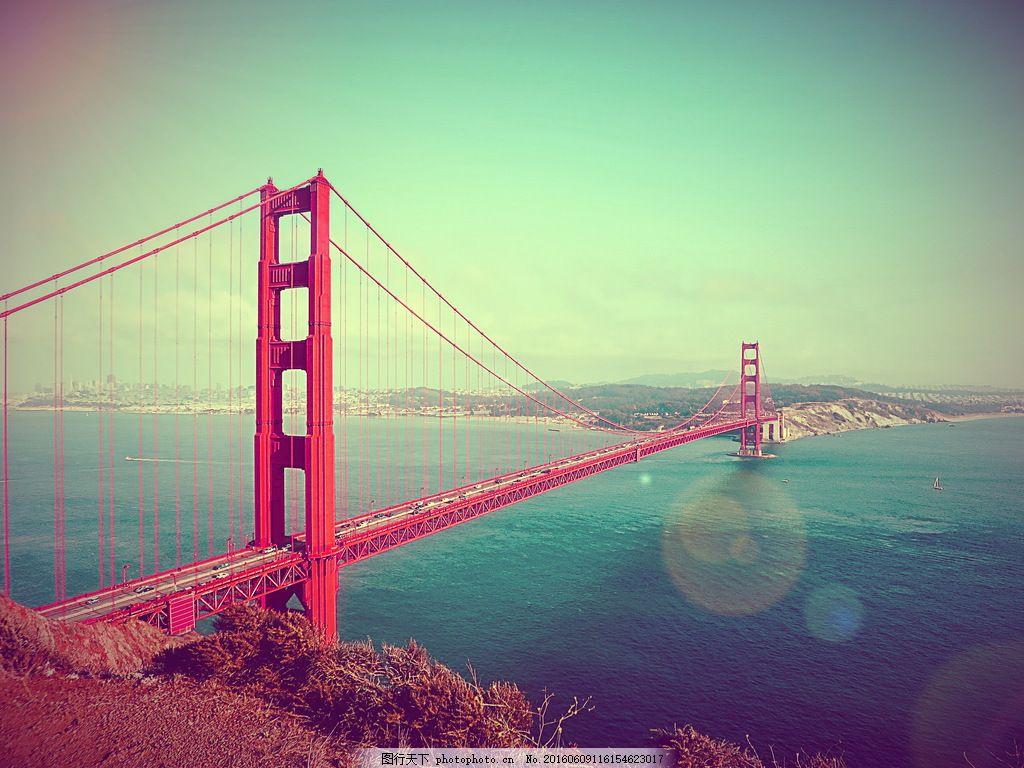 美国金门大桥风景图片