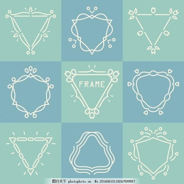线条 手绘 形状 正方形 圆形 抽象线条 多边形 三角形 抽象设计 广场