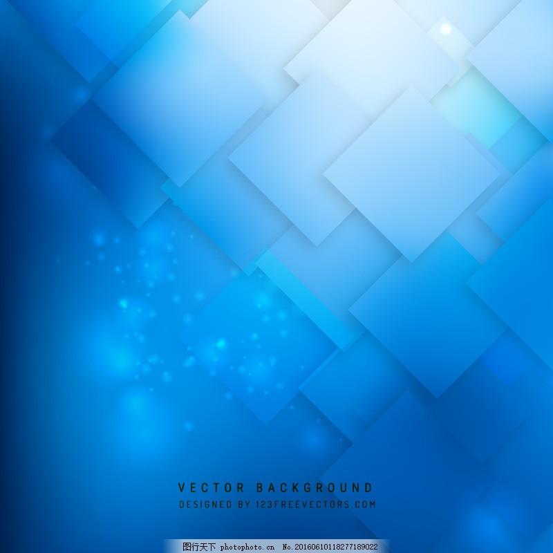 抽象蓝色正方形背景