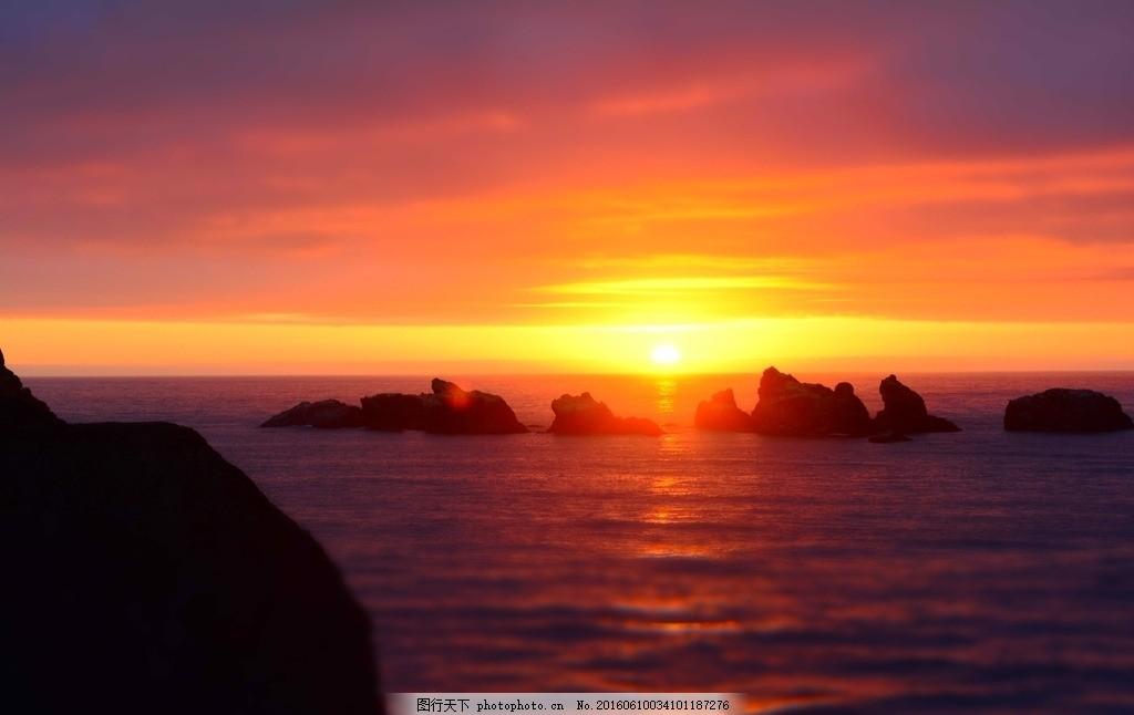 日出 天边 太阳 海平面 倒影 波纹 素材天下 摄影 自然景观 自然风景