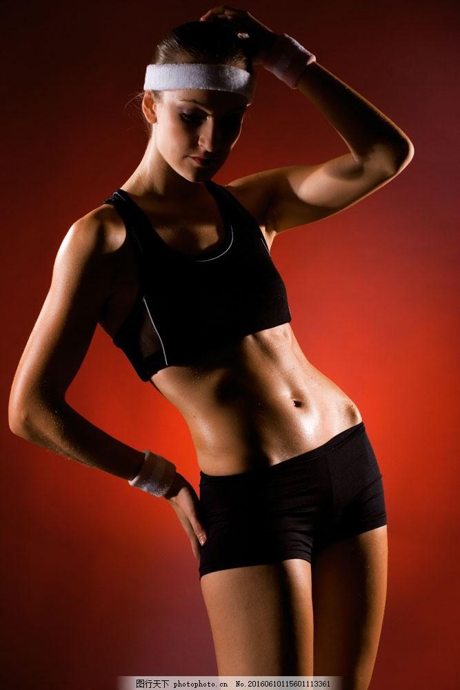 健身的性感美女图片素材 外国女性 女人 时尚美女 性感美女 健身 运动