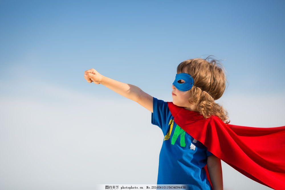 戴面具的超人儿童图片