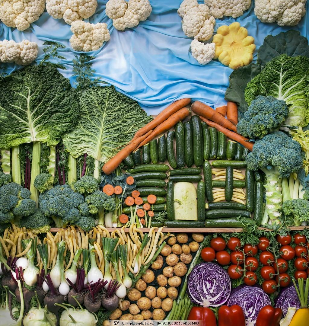二年级粘贴画图片大全_创意蔬菜拼贴画画图片展示