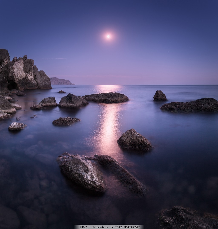 唯美海边夕阳风景图片素材下载 大海 海面 海上 海景 黄昏