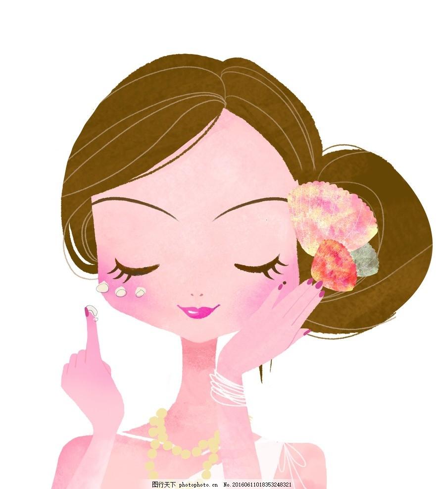 人物 化妆 女孩 可爱 化妆品 化妆 设计 动漫动画 动漫人物 300dpi