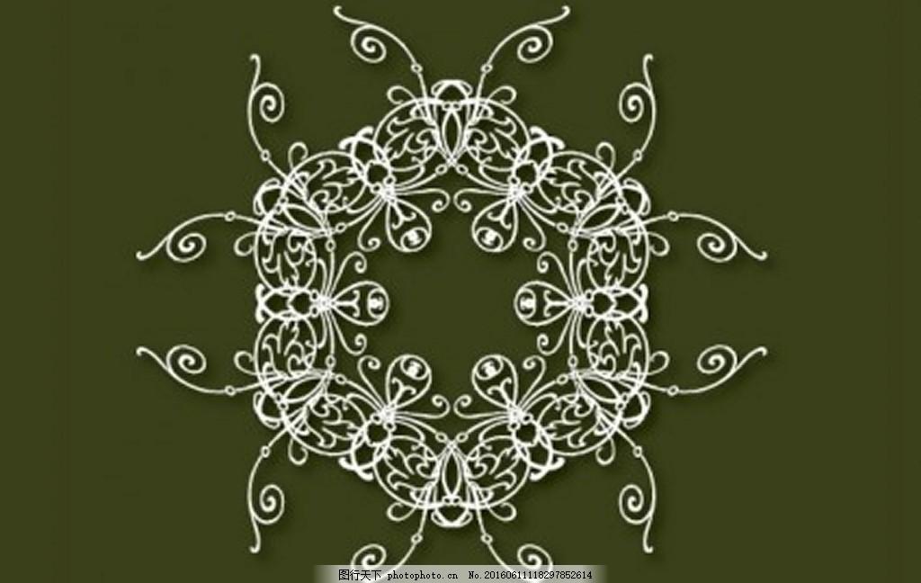 绿色背景装饰 墨绿色背景 花纹 白色花纹 背景 ai