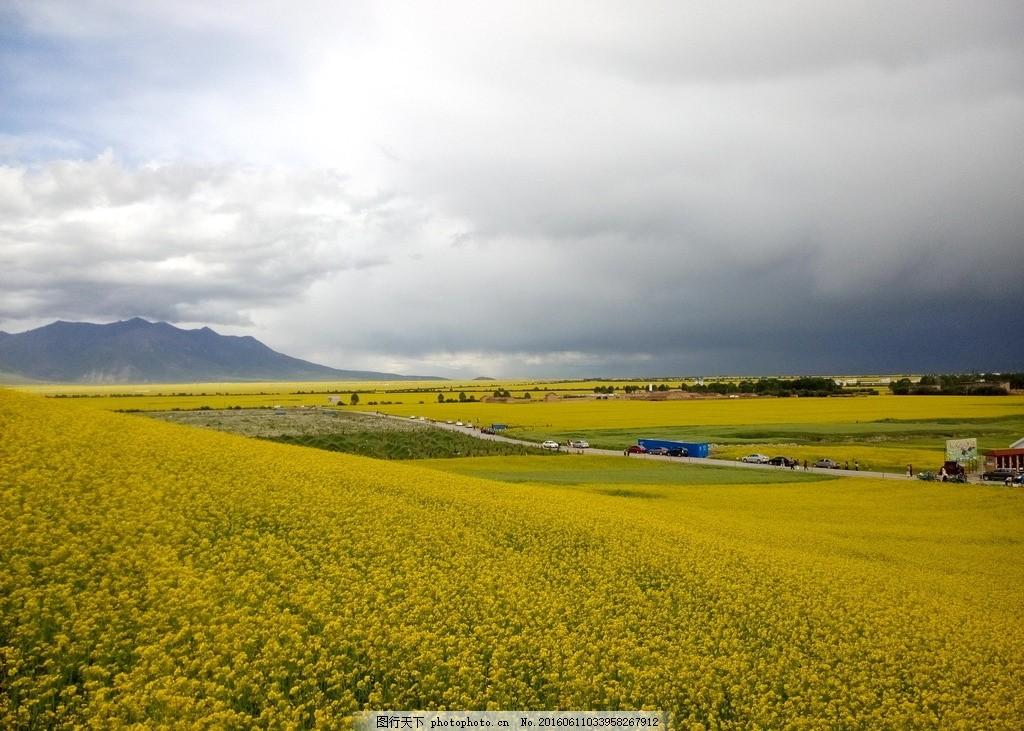 农田风景沙画背景图片