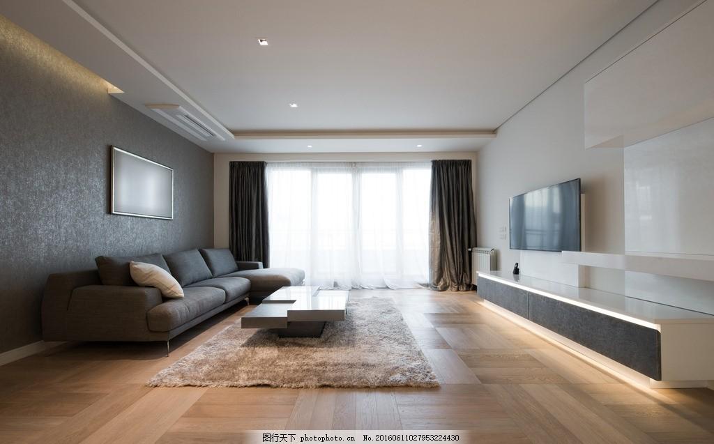 客厅 唯美 炫酷 沙发 黑沙发 木地板 黑色系 欧式