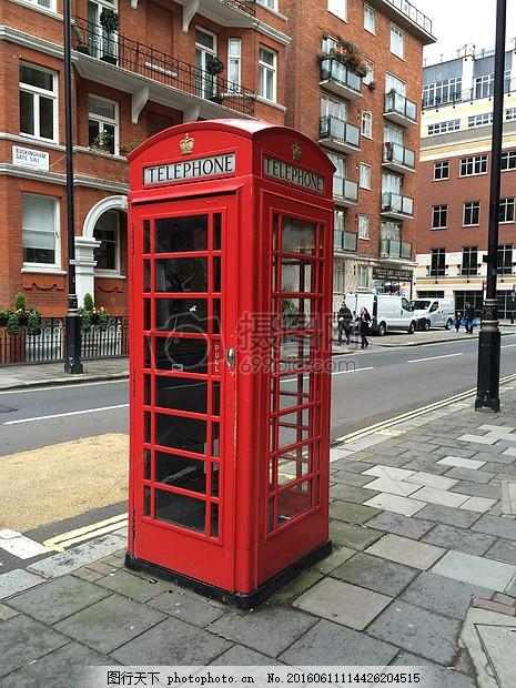红色的电话亭