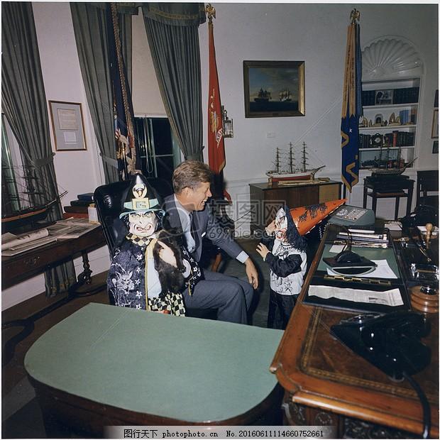 总统约翰 f 肯尼迪 白宫 椭圆形办公室 已知 著名 儿童 万圣节     红