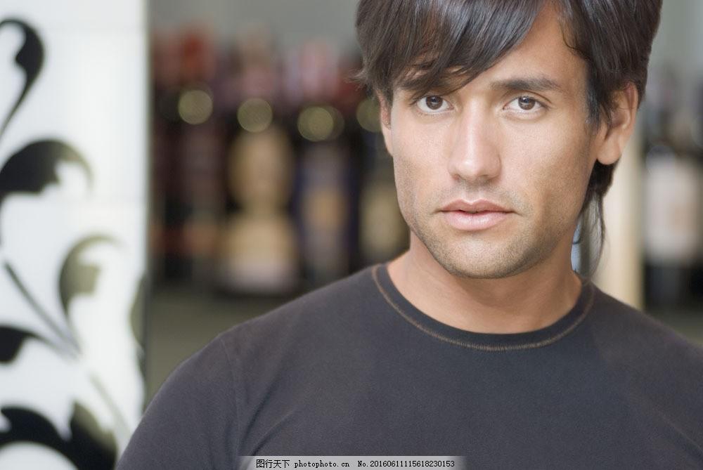 外国帅哥男性 外国帅哥男性图片素材 男人 模特 男模 面部特写