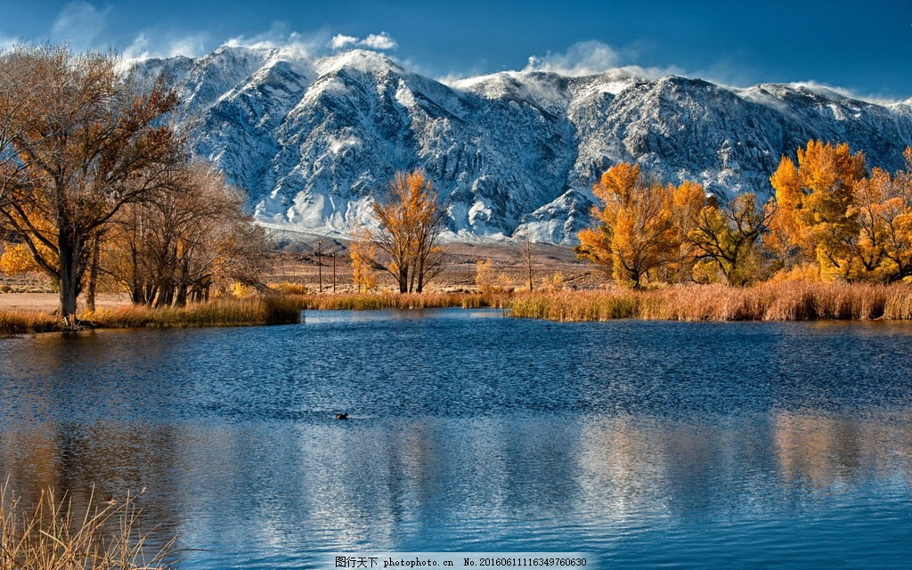 冬天风景 山水暗缝机 冬季 雪山 树木