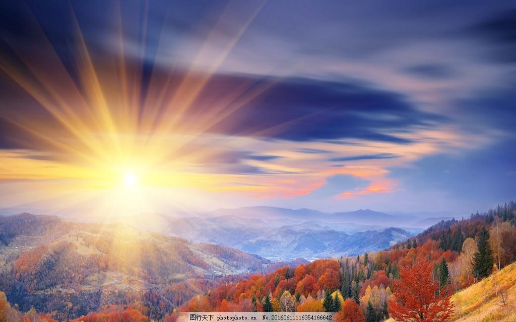 灿烂阳光风景图片