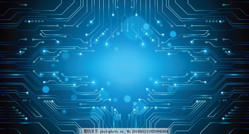 蓝色科技背景图 蓝色 电路板 电子科技 电路板 接线图 电路板设 高端