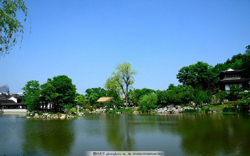 胡家花园 愚园 园林 古建筑 胡家花园愚园一组 摄影 自然景观 风景